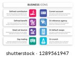 set of 8 white business icons...   Shutterstock .eps vector #1289561947