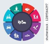 insurance vector template for...   Shutterstock .eps vector #1289566297