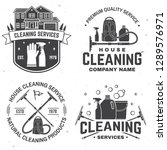cleaning company badge  emblem. ... | Shutterstock .eps vector #1289576971