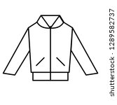 jacket line icon vector ... | Shutterstock .eps vector #1289582737