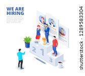 hiring and recruitment... | Shutterstock .eps vector #1289583304