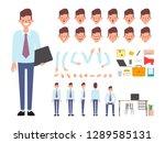 businessman character creation... | Shutterstock .eps vector #1289585131