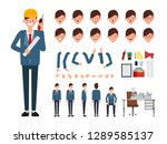 engineer character creation for ... | Shutterstock .eps vector #1289585137