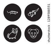 4 linear vector icon set  ...   Shutterstock .eps vector #1289588551