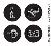 4 linear vector icon set  ... | Shutterstock .eps vector #1289590624