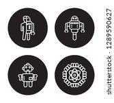 4 linear vector icon set  ...   Shutterstock .eps vector #1289590627