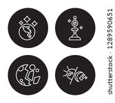 4 linear vector icon set  ... | Shutterstock .eps vector #1289590651