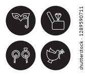 4 linear vector icon set   eye... | Shutterstock .eps vector #1289590711