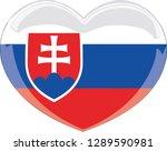 slovakia flag  heart vector ...   Shutterstock .eps vector #1289590981