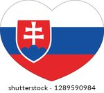 slovakia flag  heart vector ...   Shutterstock .eps vector #1289590984