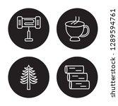 4 linear vector icon set  ... | Shutterstock .eps vector #1289594761