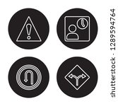 4 linear vector icon set  ... | Shutterstock .eps vector #1289594764