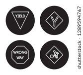 4 linear vector icon set  ... | Shutterstock .eps vector #1289594767