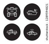 4 linear vector icon set  ... | Shutterstock .eps vector #1289594821