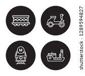 4 linear vector icon set  ... | Shutterstock .eps vector #1289594827