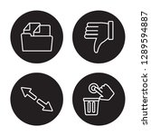 4 linear vector icon set  ... | Shutterstock .eps vector #1289594887