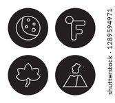 4 linear vector icon set  ...   Shutterstock .eps vector #1289594971
