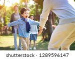 asian little boy son running... | Shutterstock . vector #1289596147