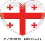georgia flag  heart vector ...   Shutterstock .eps vector #1289601151