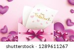 happy valentines day greeting... | Shutterstock .eps vector #1289611267
