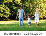 happy young couple spending... | Shutterstock . vector #1289612104