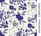seamless pattern with small... | Shutterstock .eps vector #1289614051