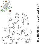 coloring page outline of...   Shutterstock .eps vector #1289615677