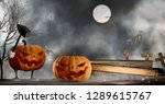 halloween background funny and... | Shutterstock . vector #1289615767