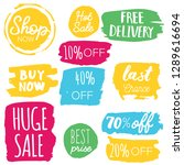 set of sale labels. hand drawn... | Shutterstock .eps vector #1289616694