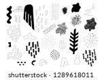 unique trendy artistic... | Shutterstock .eps vector #1289618011
