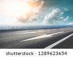 panoramic city skyline and... | Shutterstock . vector #1289623654