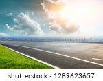 panoramic city skyline and... | Shutterstock . vector #1289623657