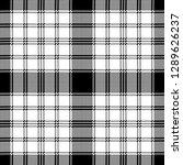 pixel monochrome plaid seamless ... | Shutterstock .eps vector #1289626237