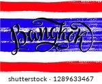 bangkok lettering icon ...   Shutterstock . vector #1289633467