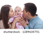 family concept   baby with dad... | Shutterstock . vector #1289634751