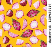 seamless pattern with hand... | Shutterstock . vector #1289659114