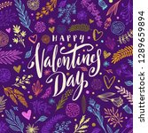 happy valentine's day  ... | Shutterstock .eps vector #1289659894