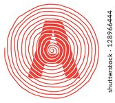 the spiral letter a vector... | Shutterstock . vector #128966444