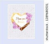 love invitation card valentine... | Shutterstock .eps vector #1289680531