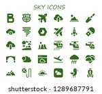 sky icon set. 30 filled sky... | Shutterstock .eps vector #1289687791