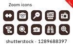 zoom icon set. 10 filled zoom... | Shutterstock .eps vector #1289688397