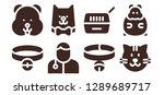 kitten icon set. 8 filled... | Shutterstock .eps vector #1289689717