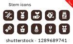 stem icon set. 10 filled stem...   Shutterstock .eps vector #1289689741