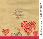 valentines day postcard  vector ... | Shutterstock .eps vector #1289690827
