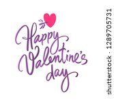 happy valentine's day... | Shutterstock .eps vector #1289705731
