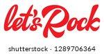 calligraphic red inscription...   Shutterstock .eps vector #1289706364