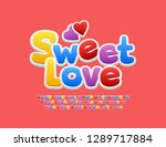 vector romantic emblem sweet... | Shutterstock .eps vector #1289717884