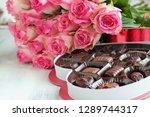 Dozen Soft Pink Rose Flowers...