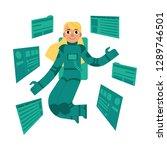 cartoon research and... | Shutterstock . vector #1289746501