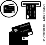 black and white credit card...   Shutterstock .eps vector #1289746807